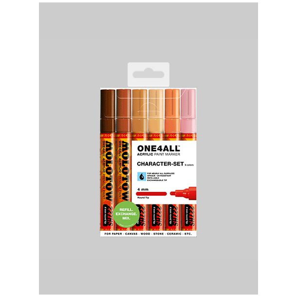 Molotow One4All 227hs 6.stk - 4mm KIit Charater
