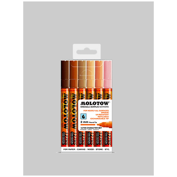 Molotow One4all Character Set 2mm - 6 stk