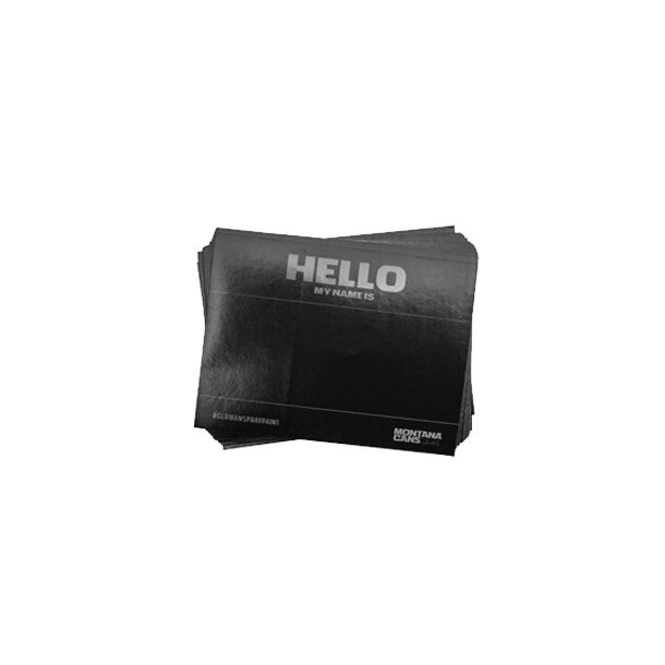 Hello My Name Is Stickers - Sort 100 stk