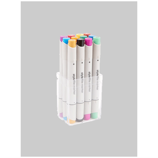 STYLEFILE BRUSH MARKER SET 12STK MA