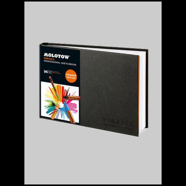 Molotow one4all Pro. sketcbook A4 Landscape Orange Editon