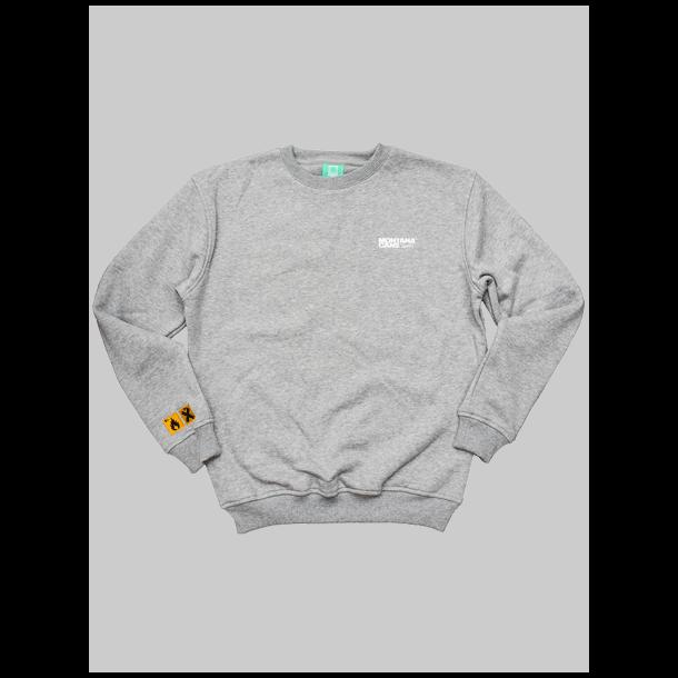 Montana Sweatshirt - type+logo Grey