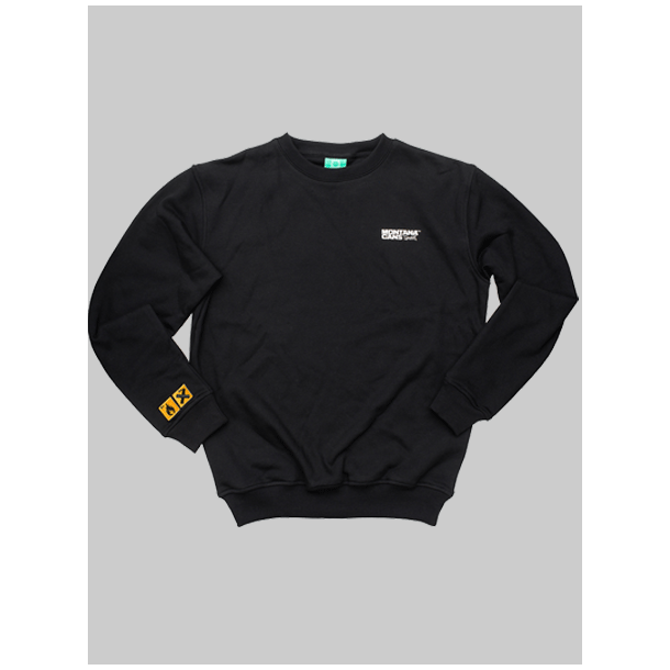 Montana Sweatshirt - type+logo Sort