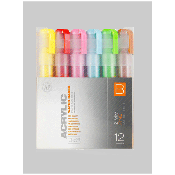 Montana acrylic 2mm marker set B