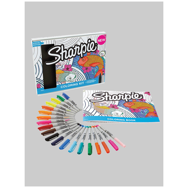 Sharpie Coloring Kit & Malebog