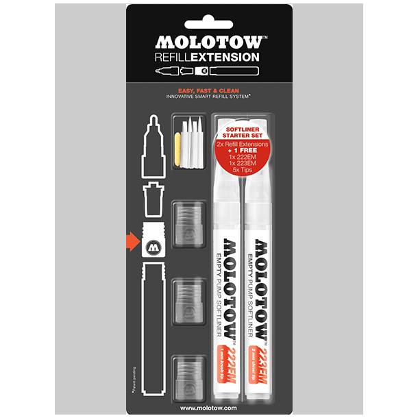 Molotow refill extension softliner set